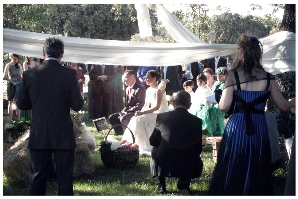 Ceremonia boda en el campo