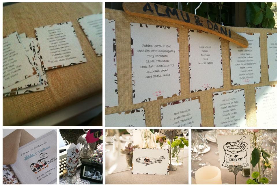 Papelería boda: invitaciones, meseros, protocolo