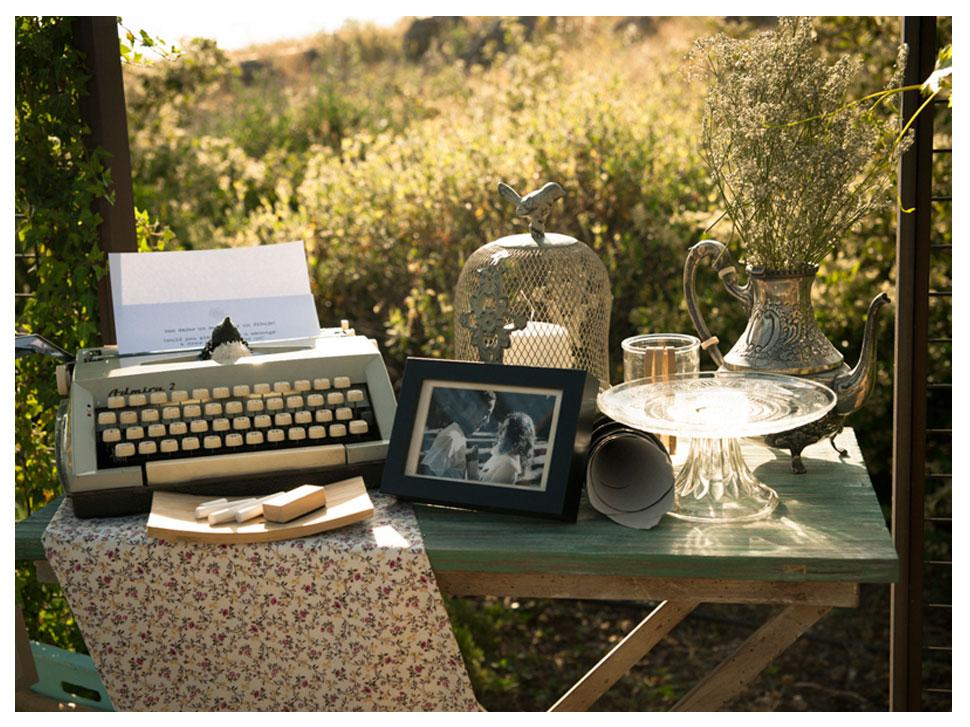 Mesa deco libro de firmas